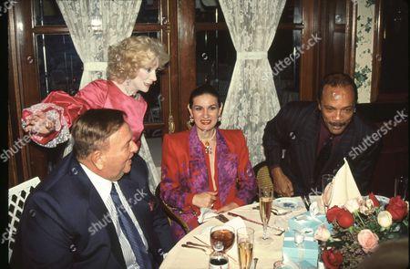 Paloma Picasso, Marvin Davis & Quincy Jones