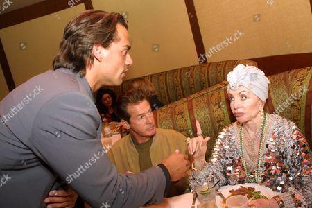 Jack Scalia, Cristian De La Fuente and Jackie Stallone
