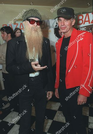 """20000621  Beverly Hills, CA Billy T of ZZ Top and Billy Bob Thornton at the Harper's BAZAAR """"Who's Who in July"""" party and dinner hosted by Harper's BAZAAR Editor-in-Chief Kate Betts and held at Mr. Chow's. Photo®Alex Berliner/BEI      A006190-24a"""