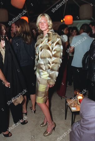 """20000621  Beverly Hills, CA Maggie Rizer at the Harper's BAZAAR """"Who's Who in July"""" party and dinner hosted by Harper's BAZAAR Editor-in-Chief Kate Betts and held at Mr. Chow's. Photo®Alex Berliner/BEI     A006199-26"""