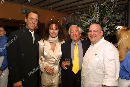 Victor Drai, Jacqueline Bisset, Fred Hayman and Lee Hefter