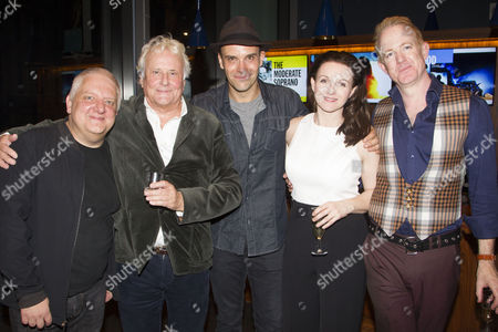 Simon Russell Beale (Samuel Foote), Richard Eyre (Director), Joseph Millson (David Garrick), Dervla Kirwan (Peg Woffington) and Ian Kelly (Author/Prince George)