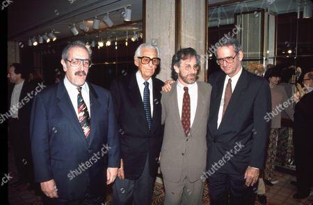 Tom Pollock, Lew Wasserman, Steven Spielberg & Sid Sheinberg