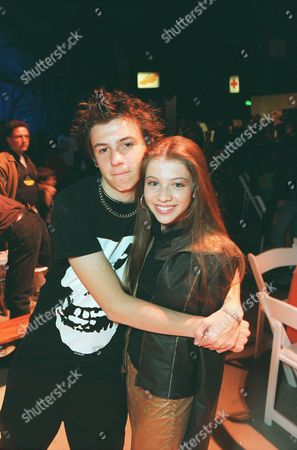 """20001028 Actor Jake Richardson and Michelle Trachtenberg (Buffy The Vampire Slayer) at the """"7th Annual Dream Halloween"""" to benefit Children Affected by Aids Foundation (CAAF). A011078-11    Photo®Ryan Miller/Berliner Studio/BEI"""