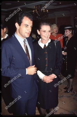Massimo Ferragamo and Audrey Hepburn