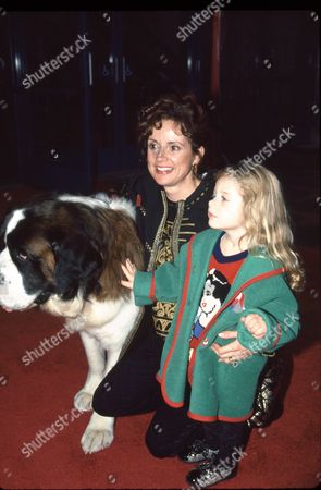 Jacklyn Zeman with daughter and Beethoven