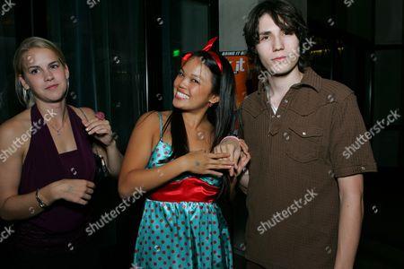Maddy Curley, Nikki Soohoo and John Patrick Amedori