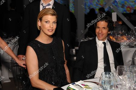 Linda Evangelista and Peter Morton