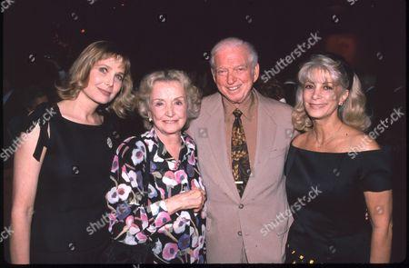 Deborah Raffin, Nina Foch, Sidney Sheldon and wife Alexandra