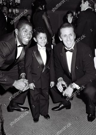Magic Johnson, Emmanuel Lewis and Pat Riley