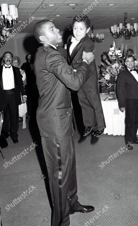 Magic Johnson and Emmanuel Lewis