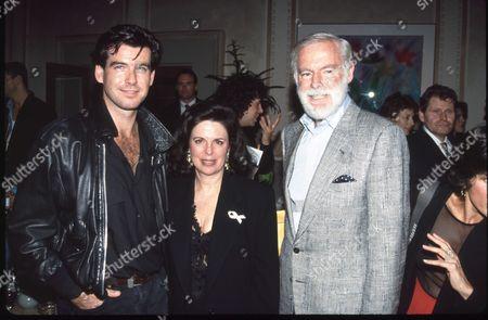 Pierce Brosnan, Wendy Goldberg and Leonard Goldberg