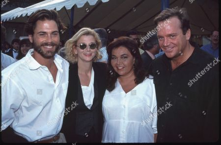 Rob Lowe, wife Sheryl Berkoff, Roseanne Barr and Tom Arnold