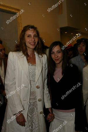 """03-21-2002 Beverly Hills, Ca Jacqui Getty and her daughter at the Opening of Julian Schnabel's """"Big Girl"""" Paintings at the Gagosian Gallery in Beverly Hills. Photo® Alex Berliner/BEI"""