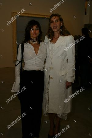 """03-21-2002 Beverly Hills, Ca Gina Gershon and Jacqui Getty at the opening of Julian Schnabel's """"Big Girl"""" Paintings at the Gagosian Gallery in Beverly Hills. Photo® Alex Berliner/BEI"""
