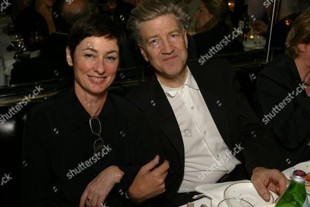 """03-21-2002 Beverly Hills, Ca David Lynch and his Mary Sweeney at the dinner at Mr. Chow's for the opening of Julian Schnabel's """"Big Girl"""" Paintings at the Gagosian Gallery in Beverly Hills. Photo® Alex Berliner/BEI"""