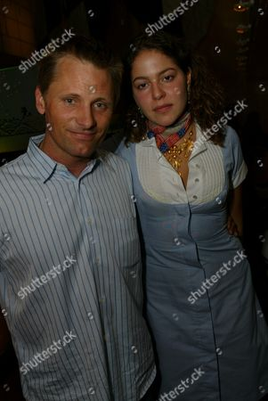"""03-21-2002 Beverly Hills, Ca Viggo Mortensen and Lola Schnabel at the Opening of Julian Schnabel's """"Big Girl"""" Paintings at the Gagosian Gallery in Beverly Hills. Photo® Alex Berliner/BEI"""