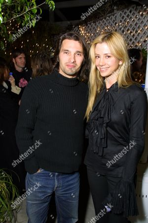 Mira Sorvino with boyfriend Olivier Martinez