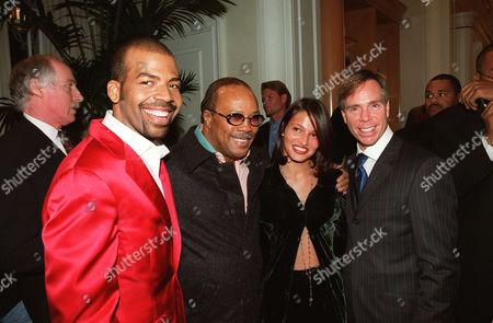 Lloyd Boston, Quincy Jones, Lisete Deraux and Tommy Hilfiger