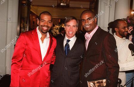 Stock Photo of Lloyd Boston, Tommy Hilfiger and Clayton Hunter