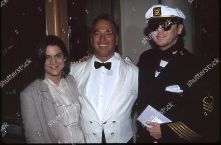 Aileen Getty, Capt. Cesare Ditel and Bud Cort