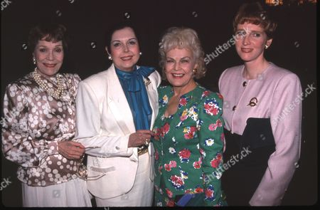 Jane Wyman, Ann Miller, June Haver and her daughter