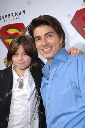 Tristan Lake Leabu and Brandon Routh