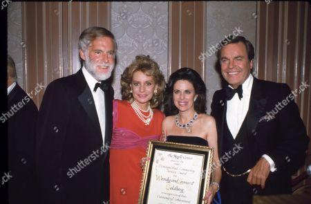 Leonard Goldberg, Jill Ireland, Wendy Goldberg and Robert Wagner