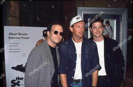 Albert Brooks, Bret Saberhagen and Brendan Fraser.
