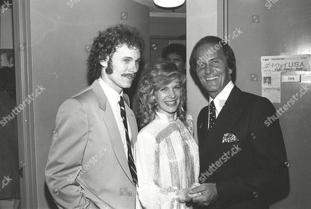 Stock Picture of Gabriel Ferrer, wife Debby Boone and her father Pat Boone