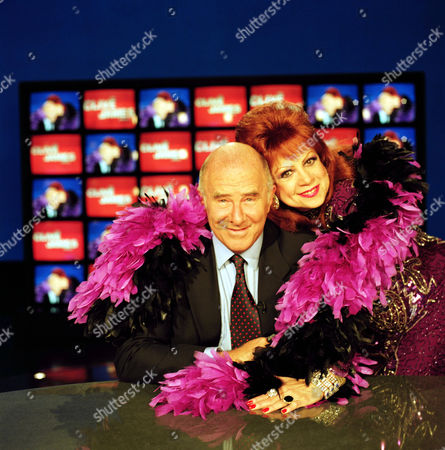 Stock Picture of CLIVE JAMES AND MARGARITA PRACATAN ON 'THE CLIVE JAMES SHOW - 1997