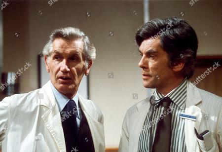 DAVID GARTH AND LEWIS JONES IN 'GENERAL HOSPITAL' - 1972