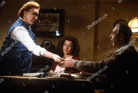 Elizabeth Spriggs, Suzanne Bertish and Leonard Fenton in 'Shine on Harvey Moon'
