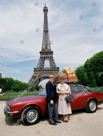Stock Picture of George Cole and Pat Heywood in 'Root into Europe'