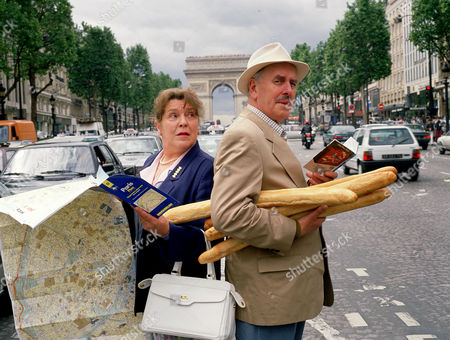 Stock Picture of Pat Heywood and George Cole in 'Root into Europe'