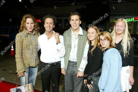 Brian Grazer, wife Gigi Levangie Grazer and family