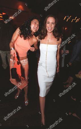 """8/22/2000 Los Angeles, CA  Nicole Bilderback and Eliza Dushku at the screening of Universal Pictures and Beacon Pictures """"Bring It On"""" in Westwood. Photo®Alex Berliner/BEI A008267-21"""