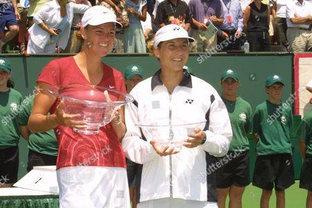 Stock Picture of Lindsay Davenport with Monica Selles
