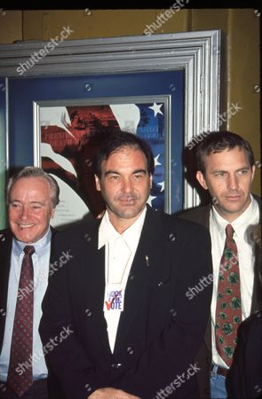 Jack Lemmon, Oliver Stone and Kevin Costner