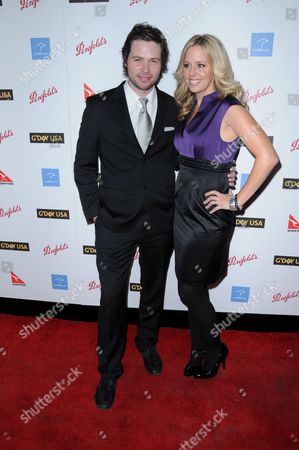 Stock Image of Michael Johns and wife Stacey Vuduris