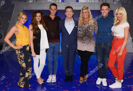 Picture Shows: Towie Stars - Danielle Armstrong, Jess Wright, Bobby Cole Norris, Host Bradley Walsh, Gemma Collins, James Bennewith (Diags) and Chloe Sims.