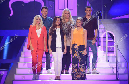Picture Shows: Towie Stars - (L-R) Chloe Sims, James Bennewith (Diags), Jess Wright, Gemma Collins, Danielle Armstrong and Bobby Cole Norris.