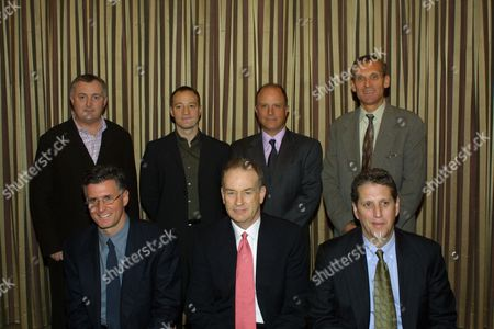 02-12-02 Beverly Hills, CA Pictured- top row: (l-r): Bill Hilary, Executive Vice President/General Manager, Comedy Central; Brian Graden, President, MTV Networks; Chris Albrecht, President HBO Original Programs; Jerry Offsay, President of Programming, Showtime Networks. bottom row(l-r): Kevin Reilly, President of Entertainment, FX; Bill O'Reilly, moderator; Doug Herzog, President, USA Network. Fox News Channel's Bill O'Reilly moderated the Hollywood Radio and Television Society(HRTS) Newsmaker Luncheon forum on the cable industry.
