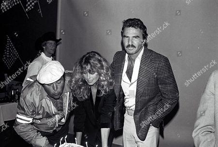 Dom DeLuise, Farrah Fawcett and Burt Reynolds