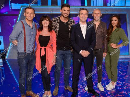 I'M a Celebrity Stars - Joe Swash, Vicki Michelle, Jake Quickenden, Host Bradley Walsh, Jimmy Bullard and Nadia Forde.