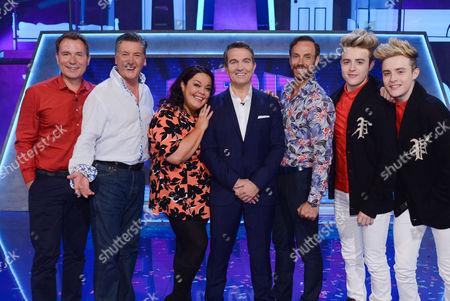 Picture Shows: Richard Arnold, Robin Cousins, Lisa Riley, Bradley Walsh, Jason Gardiner and Jedward.