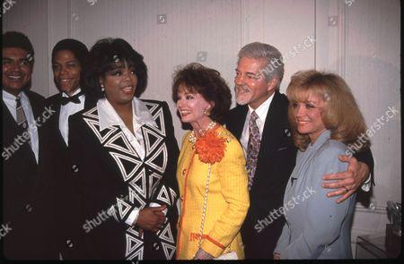 Oprah Winfrey, Ann Blyth, Bill Hayes and Barbara Mandrell