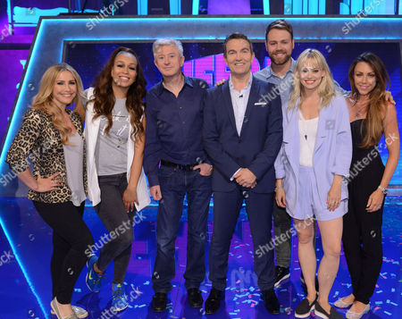 Picture Shows: Heidi Range, Rebecca Ferguson, Louis Walsh, Bradley Walsh, Brian McFadden, Kimberly Wyatt and Michelle Heaton.