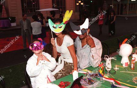 Goddaughter Jordan with Angela Johnson and fiance Eriq LaSalle