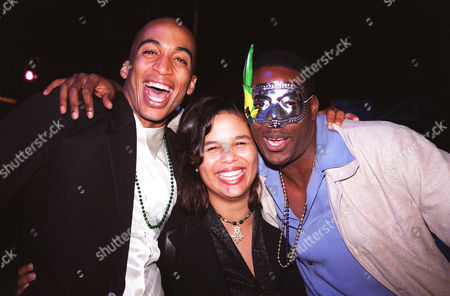 Stock Photo of James Lesure and Yvette Lee Bowser and Edafe  Blackmon
